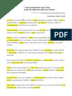Memorização de Palavras Latinas