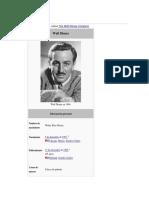 Breve Historia de Walt Disney