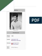 Breve Historia de Bruce Lee