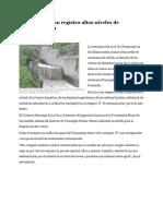 Río Choqueyapu Registra Alxsstos Niveles de Contaminación