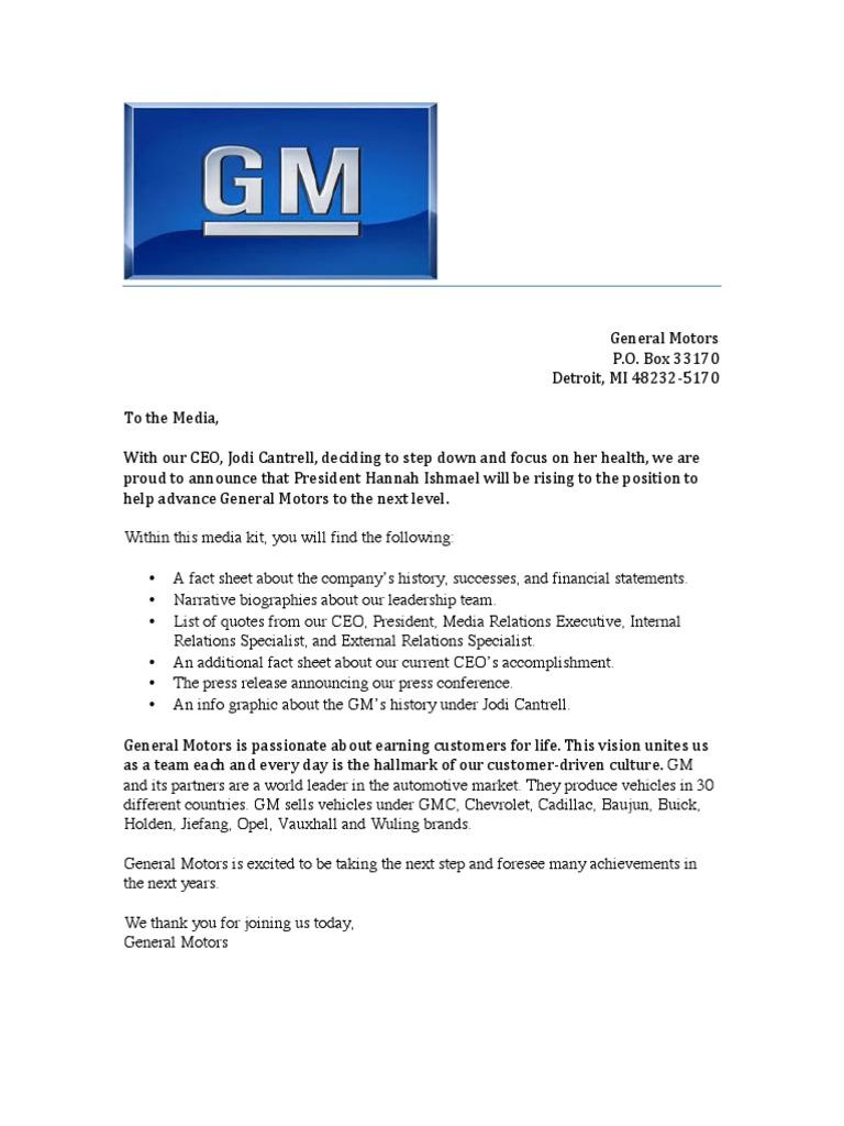 gm media relations