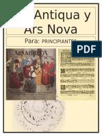 Ars Antiqua y Ars Nova
