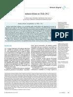 Susceptibilidad antimicrobiana en Chile 2012