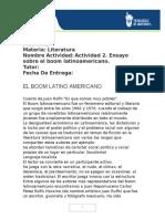 Actividad 2. Ensayo Sobre El Boom Latinoamericano.juan Pablo Camacho Cruz