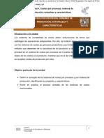 . Costos Por Procesos, Órdenes de Producción, Naturaleza y Características