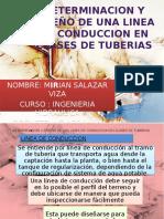 Trabajo de Invetigacion - DETERMINACION Y DISEÑO DE UNA LINEA DE CONDUCCION EN CLASES DE TUBERIAS