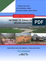 Zonas Criticas de la Región Amazonas