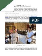 Langer Hals Dorf in Myanmar