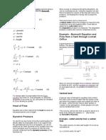 fluid formula sheet