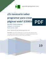 CE00106A Es Necesario Saber Programar Para Crear Paginas Webs