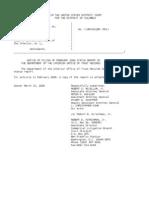 US Department of Justice Court Proceedings - 03152006 notice