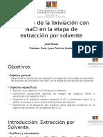 Impacto de La Lixiviación Con NaCl en La Extraccion Por Solvente.V1