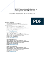 A Study for HVDC Transmission Technology to Connect Power System of North-east Asia