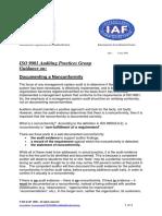 APG DocumentNonconformity