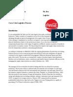 Logistics process of Coca Cola