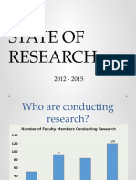 State of Research 2012_2015