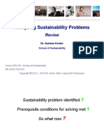 Review - Analyzing Sustainability Problems