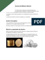 Estructura de Balance General (ACTIVOS)