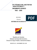 RAS-2000 Sección II Titulo B Sistemas de Acueducto