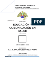 Silabo Educacion y Comunicacion en Salud 2016