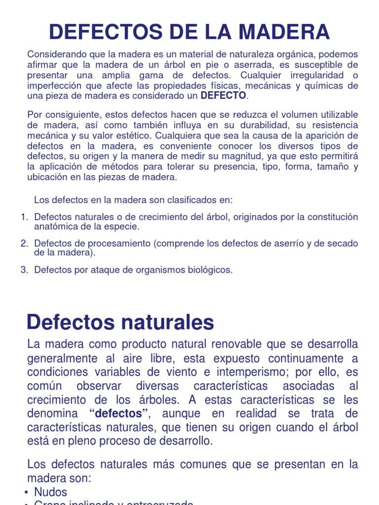 Defectos de La Madera - Anatomía