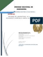 Informe LABORATORIO FISICA 1