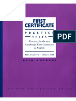 First Certificate Practise Tests