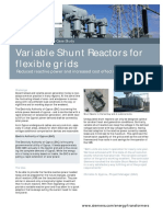 Case Study Variable Shunt Reactors for Flexible Grids