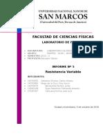 Informe 05 Laboratorio de Física III