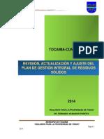 Plan de Gestion de Residuos Solidos TOCAIMA