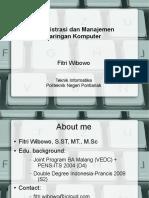 Silabus Administrasi Jaringan Komputer
