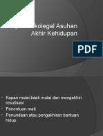 Aspek Etikolegal Asuhan Akhir