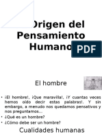 Origen Del Pensamiento Humano