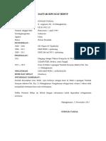 Daftar Riwayat Baru Kholik Faizal