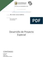 Desarrollo de Proyecto Especial y Gestion Integrada y La Legislacion de Aguas En