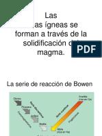 Serie de Bowen, Texturas y Rocas Igneas