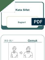 Kata Sifat - Bahasa Jepang