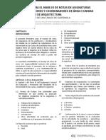 Reglamentos FARUSAC Normativo para el manejo de notas de asignaturas de los profesores y coordinadores de rea o unidad.pdf