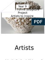 year 9  powerpoint for weebly of ceramic artists to inspire