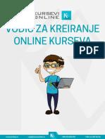 Vodič Za Kreiranje Online Kurseva