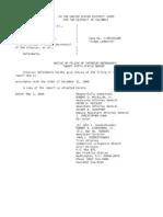 US Department of Justice Court Proceedings - 05012006 notice