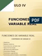 Funciones de variable real