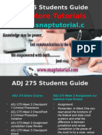 ADJ 275 Apprentice tutors/snaptutorial