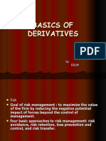 Bacics of Derivatives