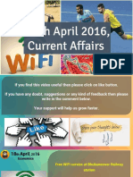 18 April 2016 Current Affairs for Competition Exams