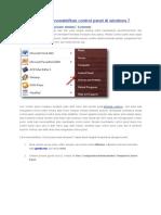 Cara Disable Atau Nonaktifkan Control Panel Di Windows 7