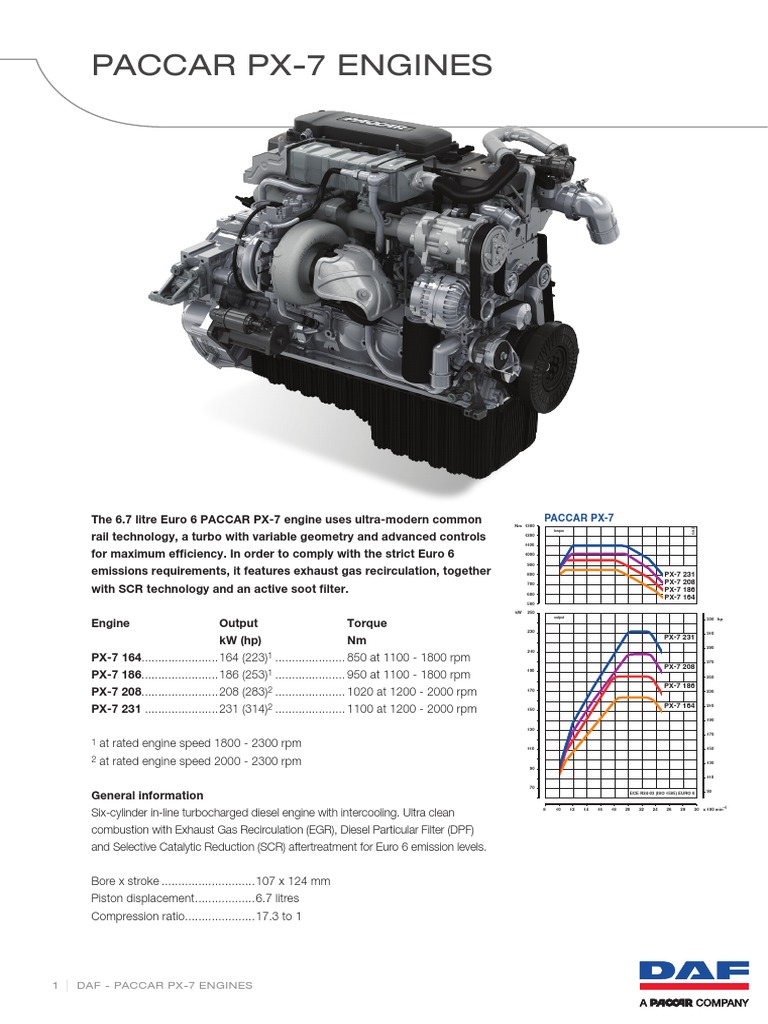 Paccar Px 7 Euro 6 Engine 64739 En | Engines | Turbocharger