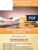 XBIS 219 GUIDES Real Education - Xbis219guides.com