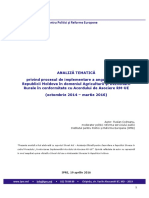 Analiza Tematica Agricultura si Dezvoltare rurala