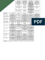 jennas timetable